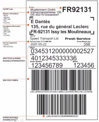 GS1-128 Barcode Label